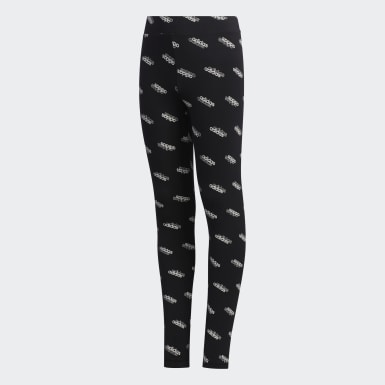 Youth 8-16 Years Athletics Black Favorites Leggings