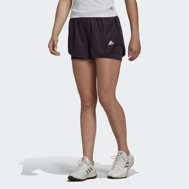 Women Running Marathon 20 Two-in-One Shorts