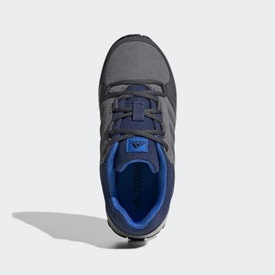 Sapatos de Caminhada em Pele Hyperhiker Low TERREX Cinzento Criança TERREX