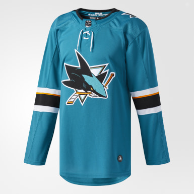 Maillot Sharks Domicile Authentique Pro vert Hockey