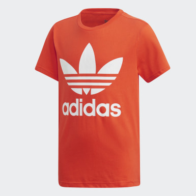 Kids Originals Orange Trefoil T-Shirt
