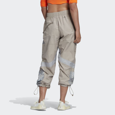 Dam adidas by Stella McCartney Beige Workout Wardrobe Training Suit Panelled Pants