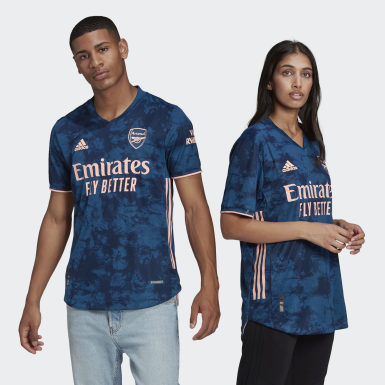 Heren Voetbal Blauw Arsenal 20/21 Authentiek Derde Voetbalshirt