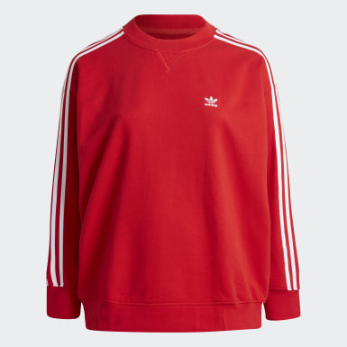 Dames Originals Rood Adicolor Classics Oversize Sweatshirt (Grote Maat)