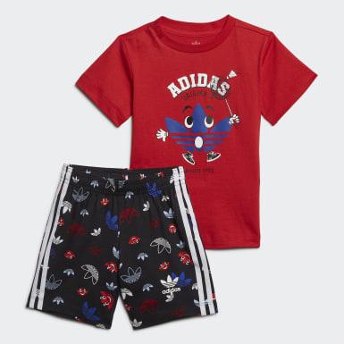 Conjunto de camiseta y pantalón corto Rojo Niño Originals