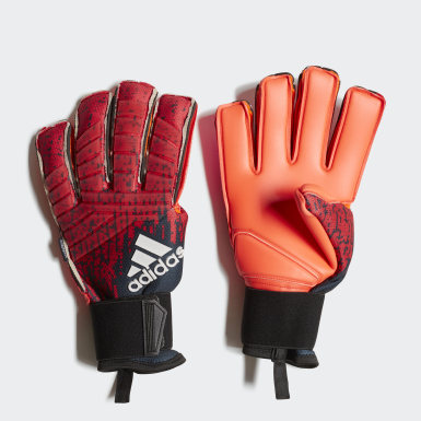 Soccer Red Predator Pro Fingersave Gloves