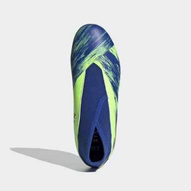 Boys Football Green Nemeziz 19.3 Firm Ground Boots