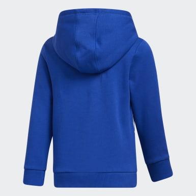 Children Training Blue Badge of Sport Fleece Hoodie