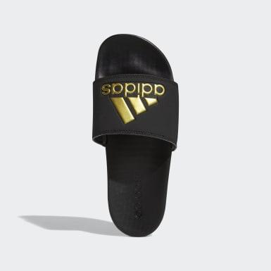 ผู้หญิง เทรนนิง สีดำ รองเท้าแตะ Adilette Comfort