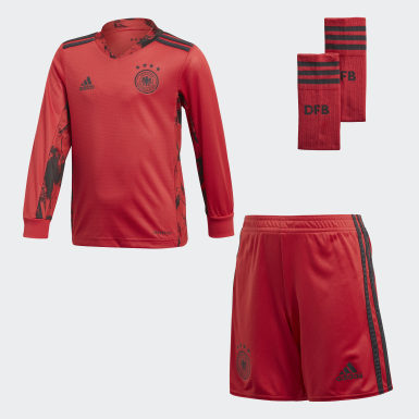Boys Football Red Germany Home Goalkeeper Mini Kit