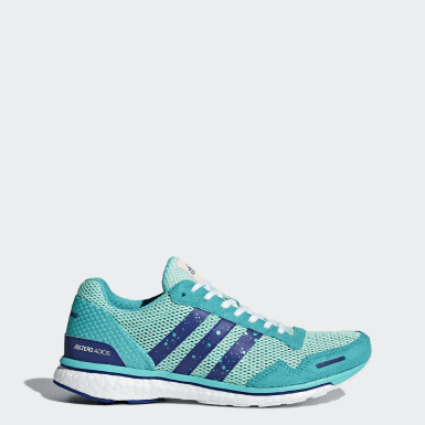 Women Running Turquoise Adizero Adios 3 Shoes