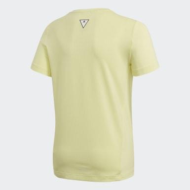 T-shirt The Future Today Jaune Filles Yoga