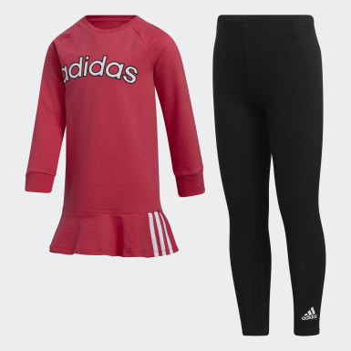 Children Training Pink Dress and Tights Set