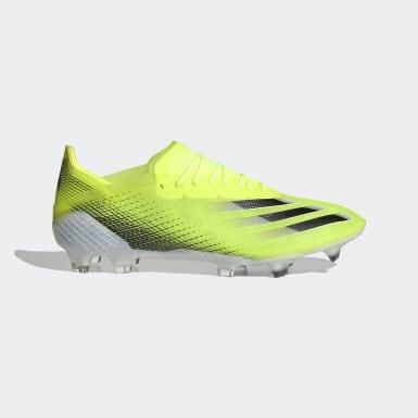 Heren Voetbal geel X Ghosted.1 Firm Ground Voetbalschoenen