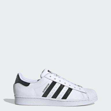 Originals White Superstar Shoes with Swarovski® crystals