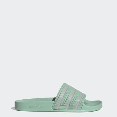 Men Originals Green Adilette Slides