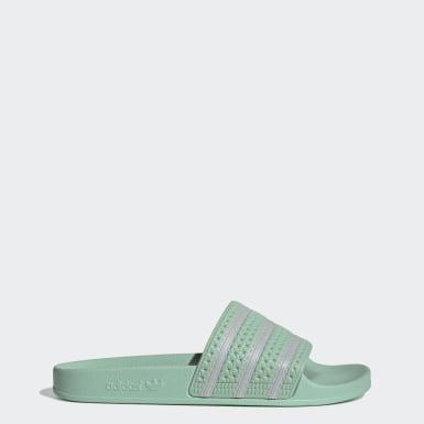 Muži Originals zelená Pantofle Adilette