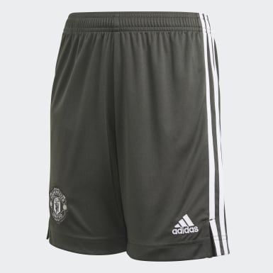 Kids Football Green Manchester United Away Shorts