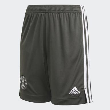 Short Extérieur Manchester United Vert Enfants Football