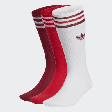 Originals สีขาว ถุงเท้าความยาวครึ่งแข้ง (3 คู่)