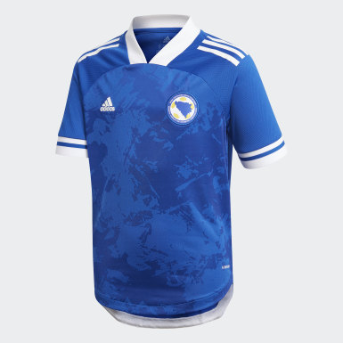 Kinderen Voetbal Blauw Bosnië en Herzegovina 20/21 Thuisshirt