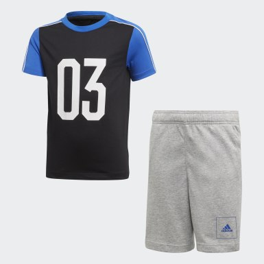 Boys Lifestyle Black Summer Set