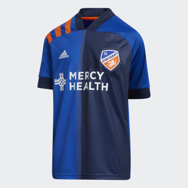 Youth Soccer Blue FC Cincinnati Home Jersey