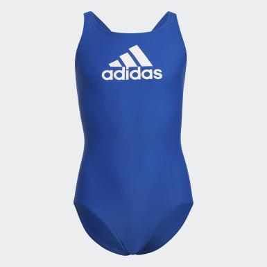 Mädchen Schwimmen Badge of Sport Badeanzug Blau