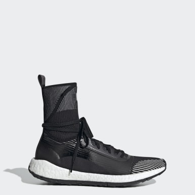 Women adidas by Stella McCartney Black Pulseboost HD Mid Shoes