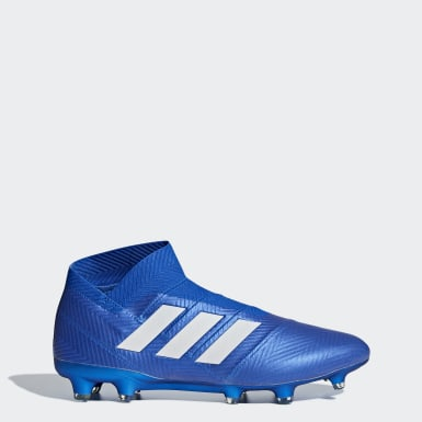 Football Blue Nemeziz 18+ Firm Ground Boots