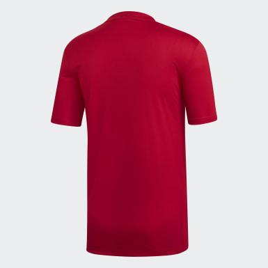 ผู้ชาย ฟุตบอล สีแดง เสื้อฟุตบอล Striped 19