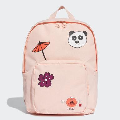 Dívky Běh růžová Batoh Cleofus Graphic Classic