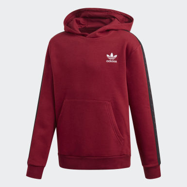 Barn Originals Burgundy Tape Hoodie