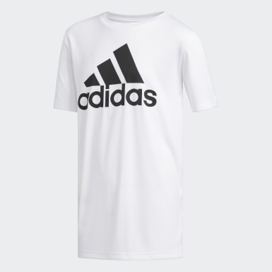 Youth Training White Climalite Badge of Sport Tee