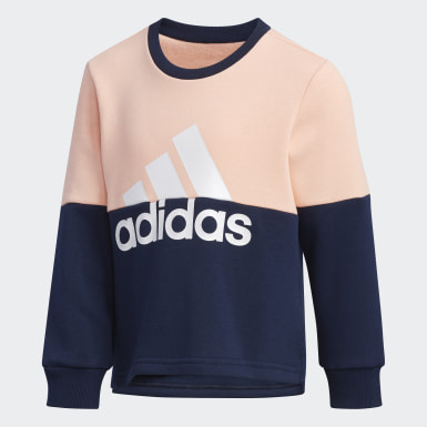 Girls Training Pink Crew Sweatshirt