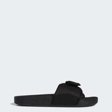Heren Originals Zwart Pharrell Williams Boost Slippers
