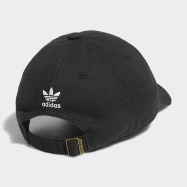 Men Originals Black Originals Relaxed Strap-Back Hat