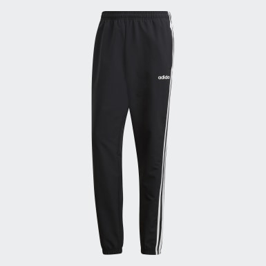 Men Training Black Essentials 3-Stripes Wind Pants
