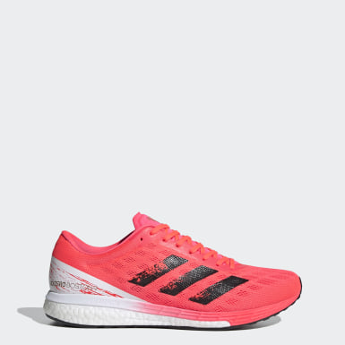 Men Running Pink Adizero Boston 9 Shoes