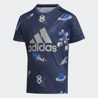 синий Футболка Tech
