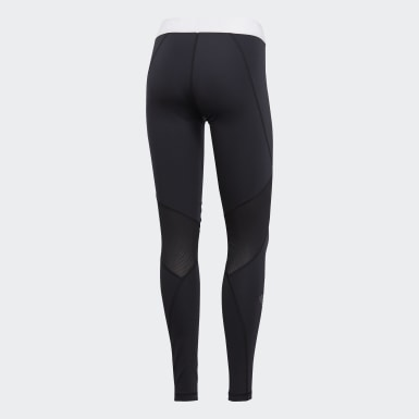 Women Training Black Alphaskin Sport Long Tights