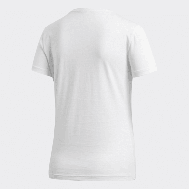 Camiseta Foil Badge of Sport Blanco Mujer Training