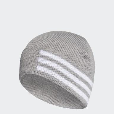 Training 3-Streifen Wollmütze Grau