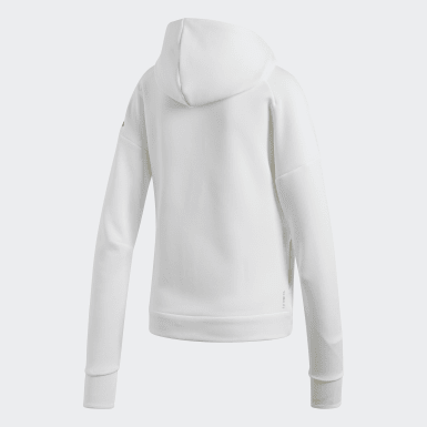 Women Athletics White adidas Z.N.E. Fast Release Hoodie