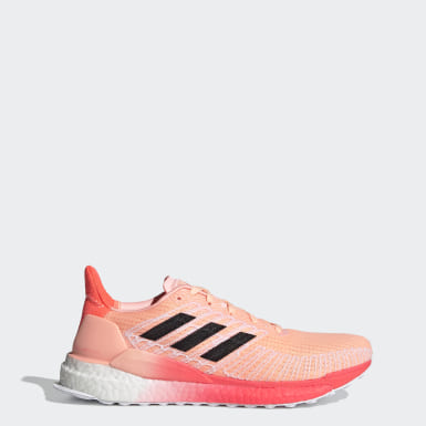Women Running Orange Solarboost 19 Shoes