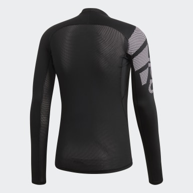 Männer Training Alphaskin Badge of Sport Longsleeve Schwarz