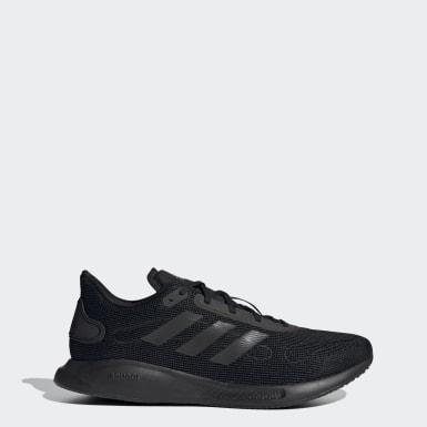Men Running Black Galaxar Run Shoes