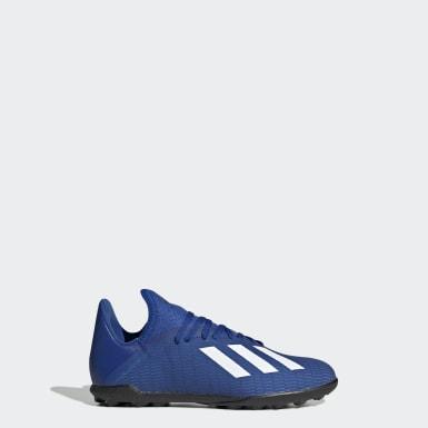Zapatos de Fútbol X 19.3 Pasto Sintético Azul Niño Fútbol