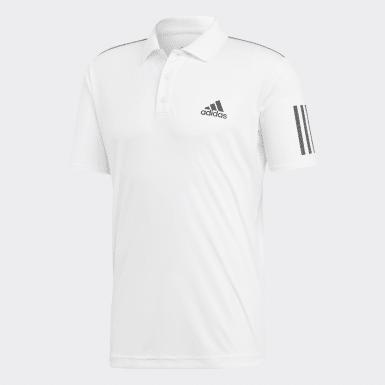 Muži Padel Tenis bílá Polokošile 3-Stripes Club
