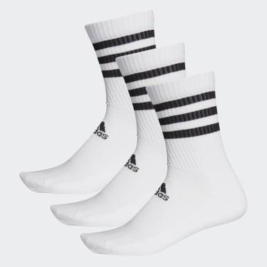 Calcetines Clásicos Acolchados 3 Tiras 3 Pares Blanco Training